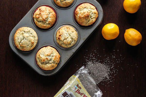 Healthier Meyer Lemon Chia Seed Muffins | TheCornerKitchenBlog.com #chiaseeds #healthy