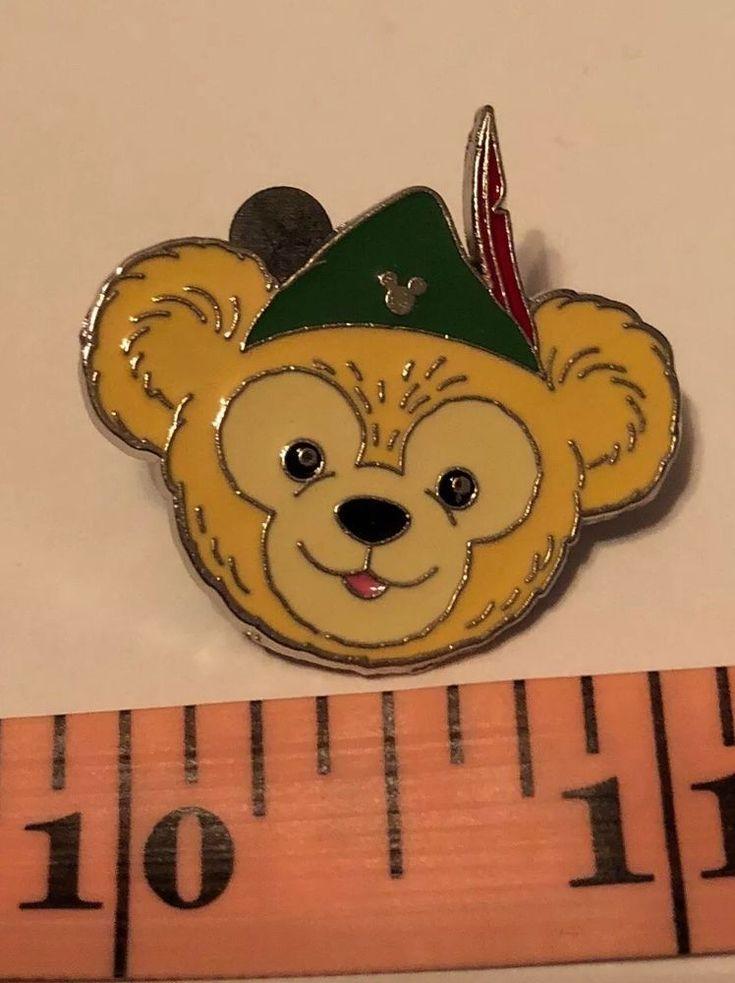 Disney Trading Pin Duffy Bear Head in Peter Pan Hat Hidden Mickey Pin 5 of 5    eBay