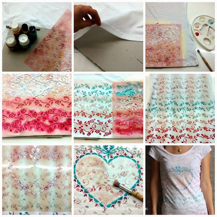 171 best images about arte artesan a y manualidades on - Plantillas para pintar camisetas ...