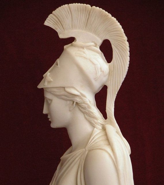 Busto de Atenea en mármol. Bust of Athena in por MARBLASSICART