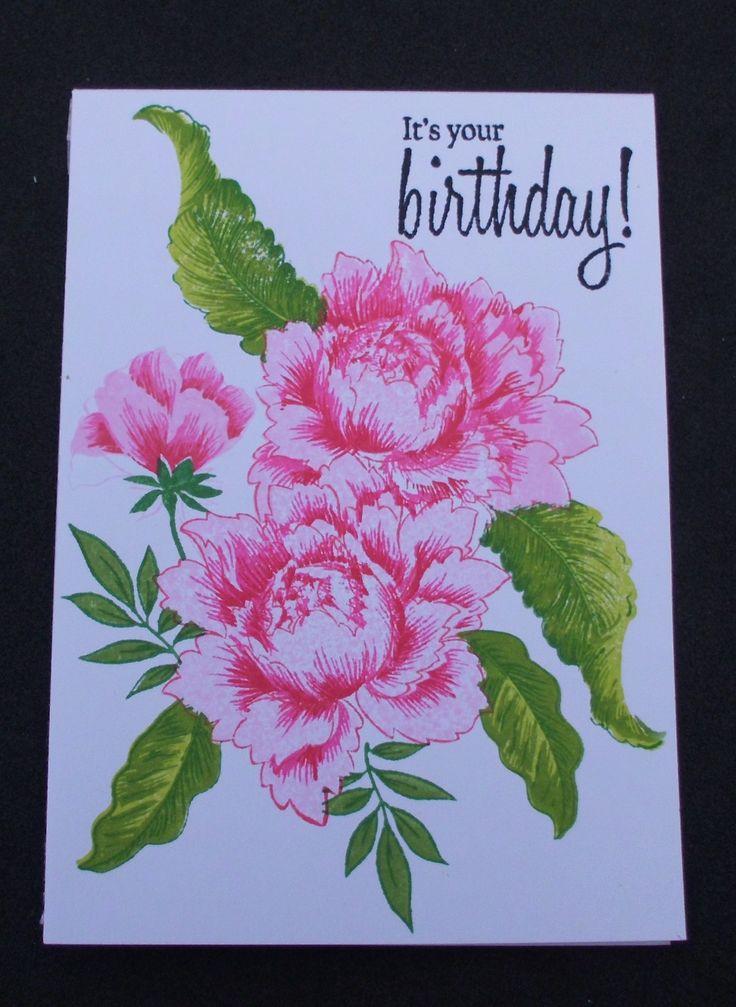 dette kort er lavet med Altenew peony bouquet