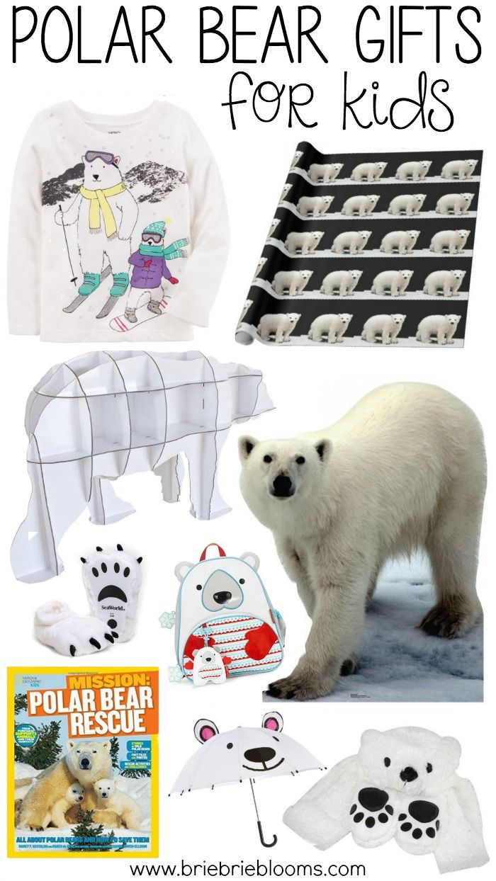 87bdabdf Polar Bear Gifts for Kids | Holiday Gift Ideas | Easter gift baskets ...
