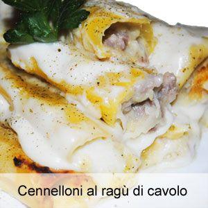 Ricetta cannelloni farciti con cavolo cappuccio, pasta di salamella e mozzarella
