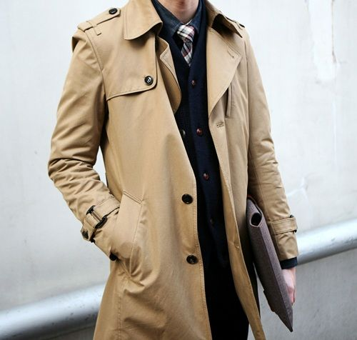 A sexy and slim cut trench is a must in a Man's wardrobe. #fashion #style #mensFashion Style, Classic Trench, Men Style, Menstyle, Men Fashion, Style Men, Man Fashion, Wardrobes Staples, Trench Coats