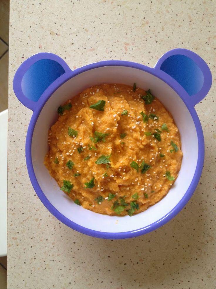 """Ala'Antkowe BLW » """"Marchewkowa zupa-krem z soczewicą i słonecznikiem"""""""