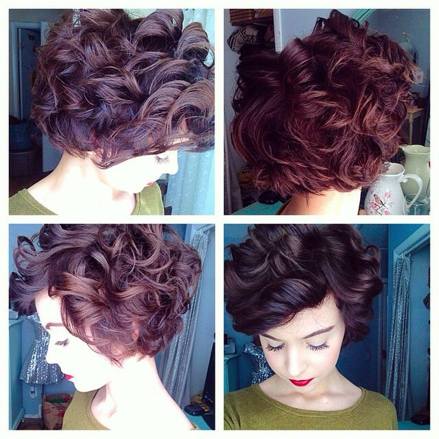 Curly pixie Emma Gustavson