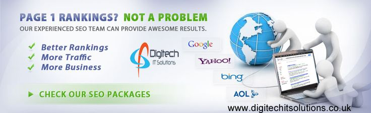 We are experts in #webdesign, #Ecommerce, #SEO and #Payperclick advertising. We know how to make our clients stand out from the pack. For More Detail please visit At www.digitechitsolutions.co.uk