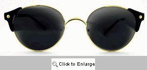 Granada Round Clubmaster Sunglasses - 104 Black