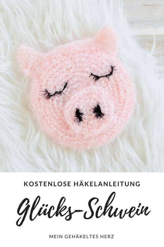 Schweinchen-Schwamm kostenlose Häkelanleitung