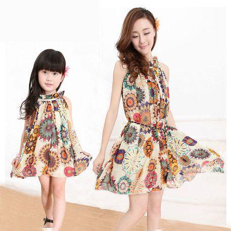 Resultado de imagen para vestidos mamá e hija iguales