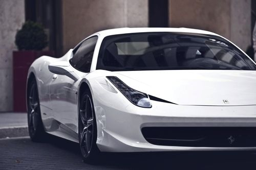 458 Italia: Sports Cars, Ferrari458, Ferrari 458, Cars Girls, 458 Italian, Girls Style, Random Inspiration, Dreams Cars, White Ferrari