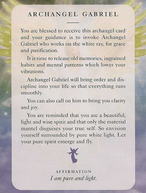 Angel card: 07 July 2013: Archangel Gabriel                              …