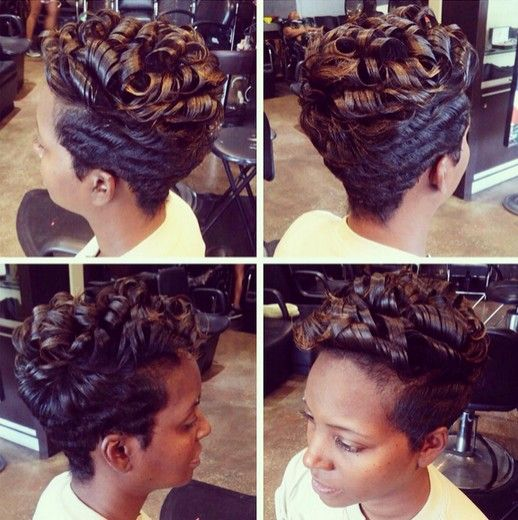 Short Hairstyles with Curly Hair - African American Women Haircuts 2016