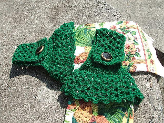 crochet pattern for christmas towels | Crochet Towel Topper