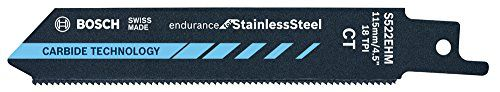 Bosch 2330196 Sabre Saw Blade , Blue  Range of application: for stainless sheets, profiles, GRP/epoxyEspecially optimized for use in compact sawsTotal length: 4.53in  http://industrialsupply.mobi/shop/bosch-2330196-sabre-saw-blade-blue/