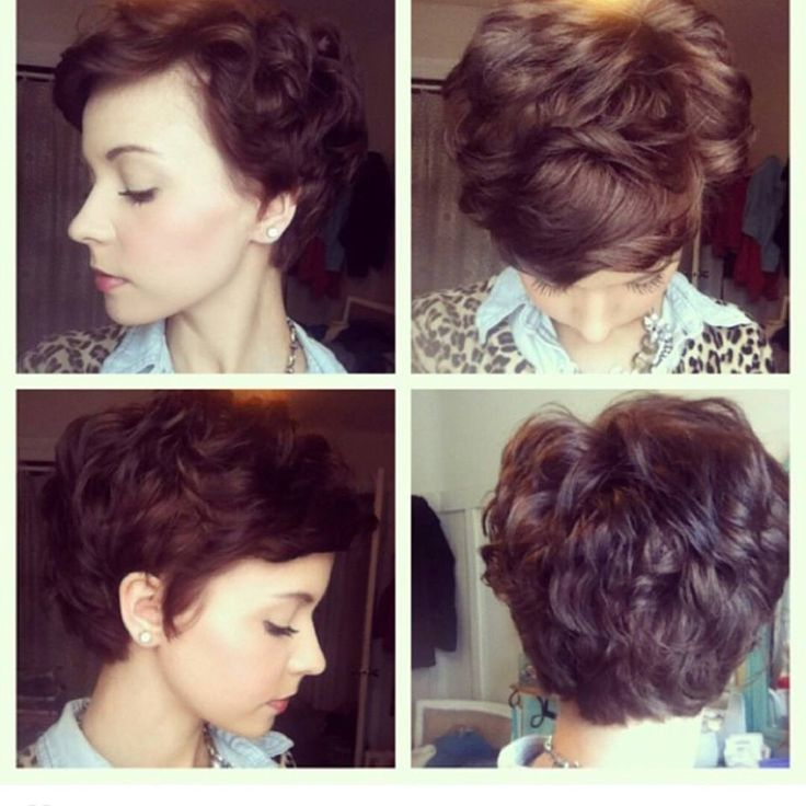 Pixie for wavy hair - I wish my hair would cooperate for something like this! Such a delicate look