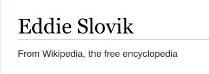 Eddie Slovik. From Wikipedia, the free encyclopedia.