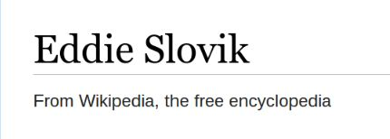 Eddie Slovik. From Wikipedia, the free encyclopedia.
