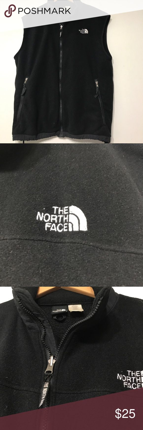 North Face Vest Men's Black North Face vest really good condition no flaws or holes. North Face Jackets & Coats Vests