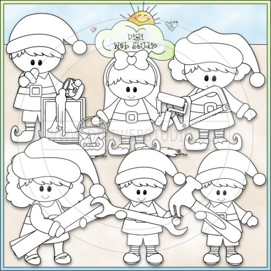 office santas workshop coloring pages - photo #17