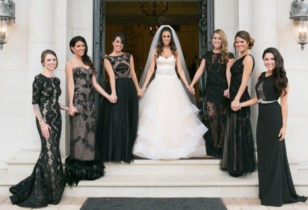 Black Bridesmaid Dresses - Occasio Productions #BTMVendor