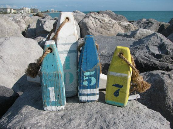 Wood Buoy. Wooden Buoys. Handmade Nautical by Pier22DesignStudio