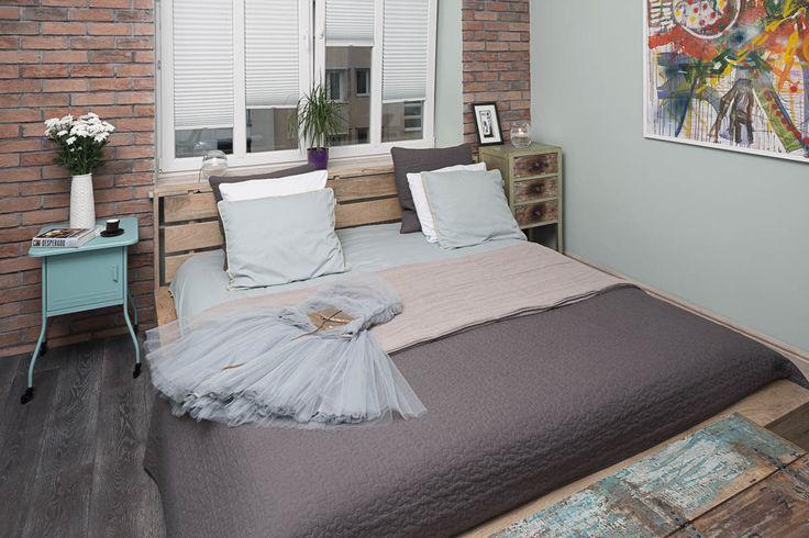 Apartament na Mokotowie – sypialnia. Foto: Rafał Nebelski | tryc.pl #bedroom #interiorsdesigner #shabbychic