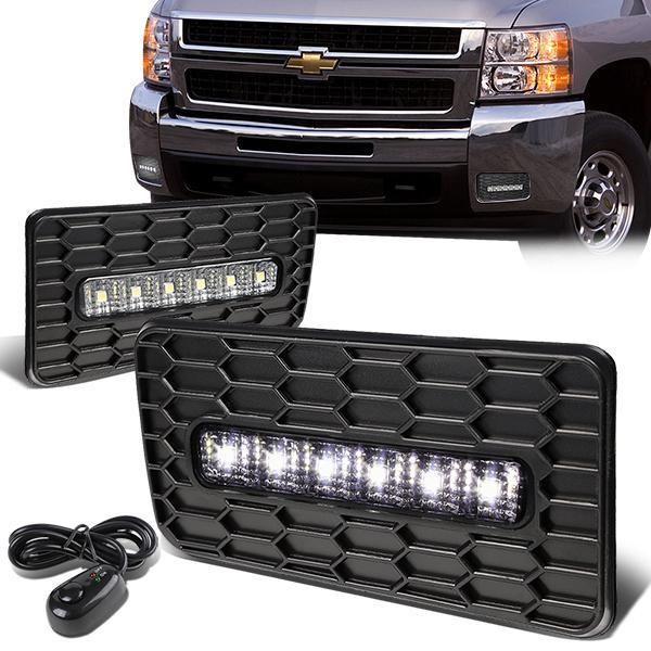 07 15 Chevy Silverado Gmc Sierra 1500 2500 3500 Hd Led Fog Lights W Bezel Switch Led Fog Lights Silverado Led