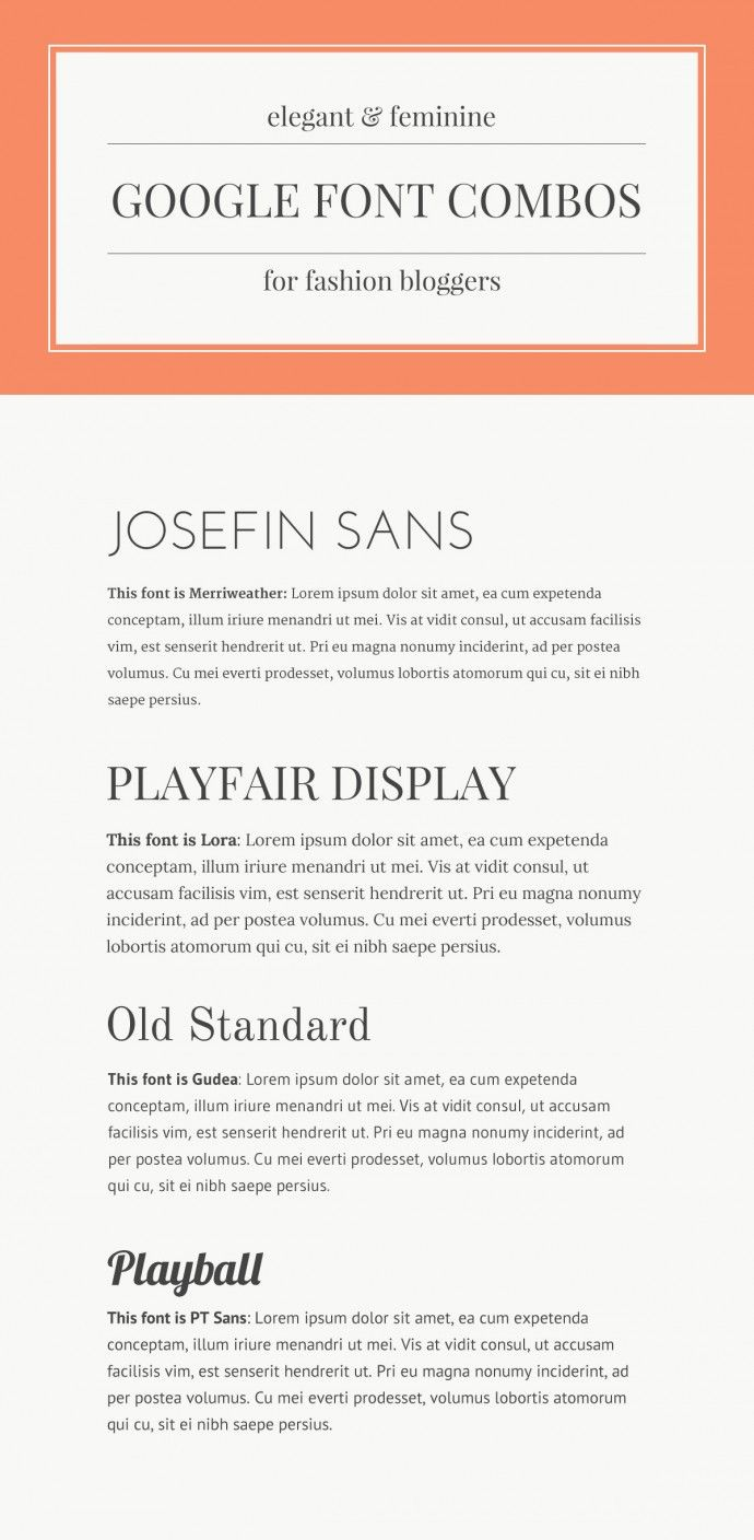 good fonts for resume