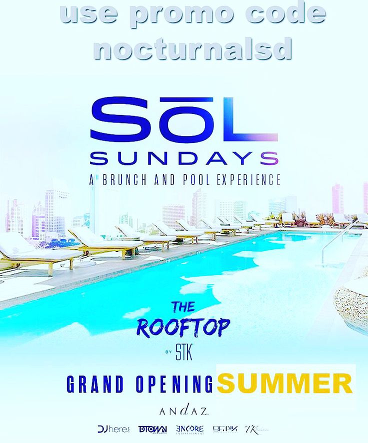 Today !!! SoL Pool Sundays Tickets Promo Code Andaz San Diego BOOK YOUR SOL SUNDAY WITH OUR DISCOUNT CODE NOW PROMO CODE: NOCTURNALSD Event Information TICKETS https://nocturnalsd.com/event/sol-pool-sundays-tickets-promo-code-andaz-san-diego/2017-05-21/ #solsundays #solpoolparty #solsd #solbrunch #andazpool #andazsd #andazsandiego #sandiegoandaz #5group #fivegroup #nocturnalsd #sundayfundaysd #sundaypoolpartysd #sundaysd #sdsundays #djhere #sfnix #tkproductions #encoresd #interventionsd…