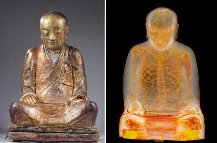 Mummified Monk Found Inside Chinese Buddha Statue, c. 1050-1150 AD