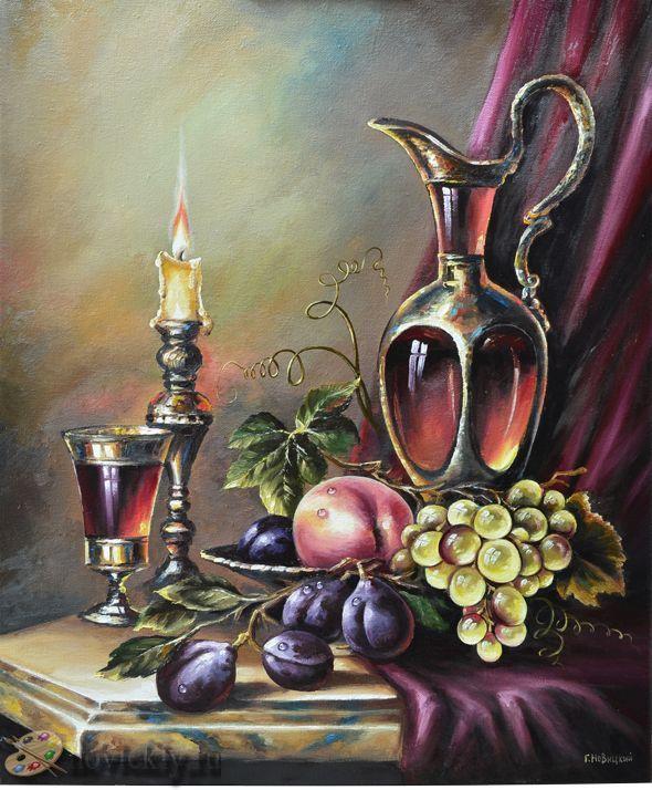 Натюрморт со свечой - Натюрморт - Галерея - Картины для интерьера
