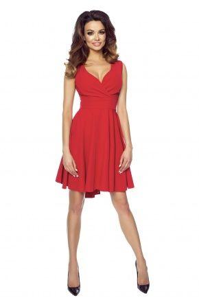 Seksowna asymetryczna sukienka z dekoltem KM155-1