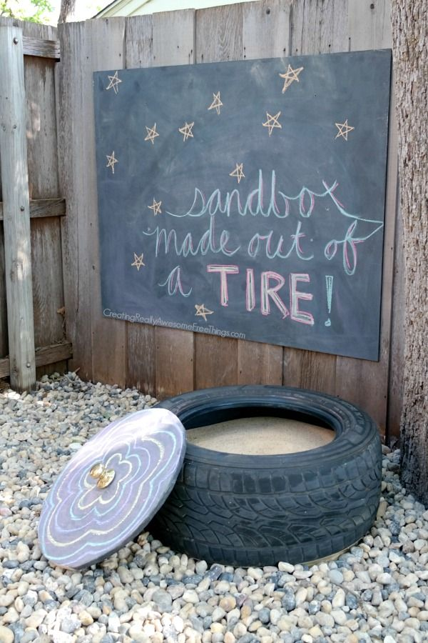 DIY tire sandbox... so easy to make!