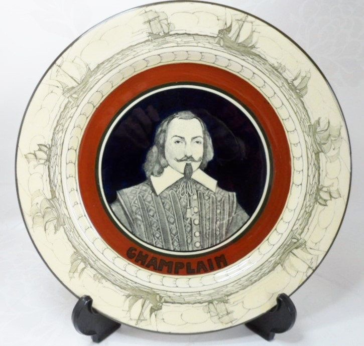 Royal Doulton Nautical History Series Plate Samuel de Champlain Antique China by BelieveToBeBeautiful on Etsy