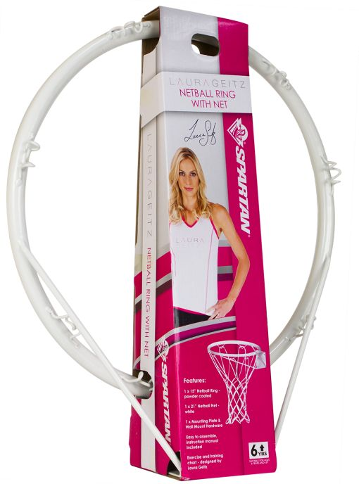 Netball Ring and Net. Easy to assemble, Includes exercise and training chart – designed by Laura Geitz