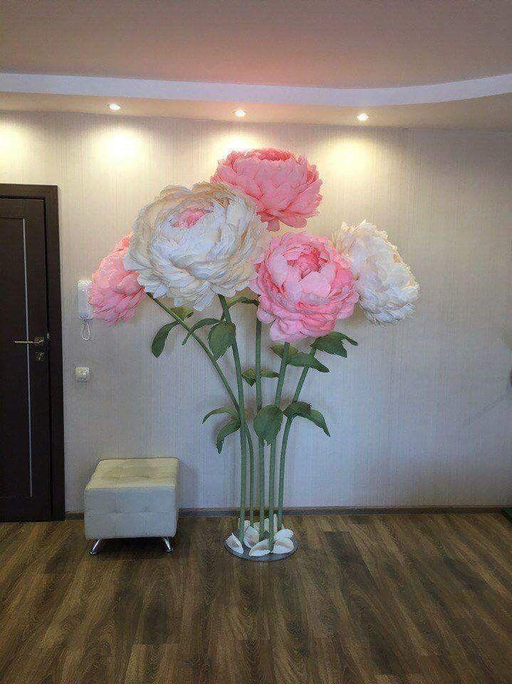 Flower Pillars Paper Flowers Diy Giant Paper Flowers Paper