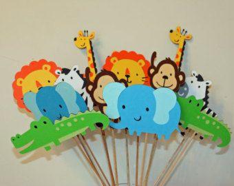 Jungle/Zoo/Circus/Safari Table Decorations- Set of 6