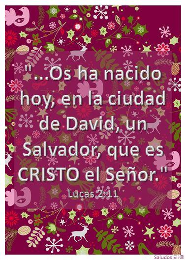 """""""...Os ha nacido hoy, en la ciudad de David, un Salvador, que es CRISTO el Señor."""" Lucas 2:11"""