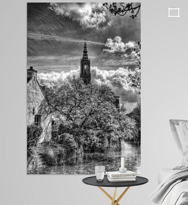 Nieuw in mijn Werk aan de Muur shop: Westsingel en Lange Jan Historisch Amersfoort zwartwit