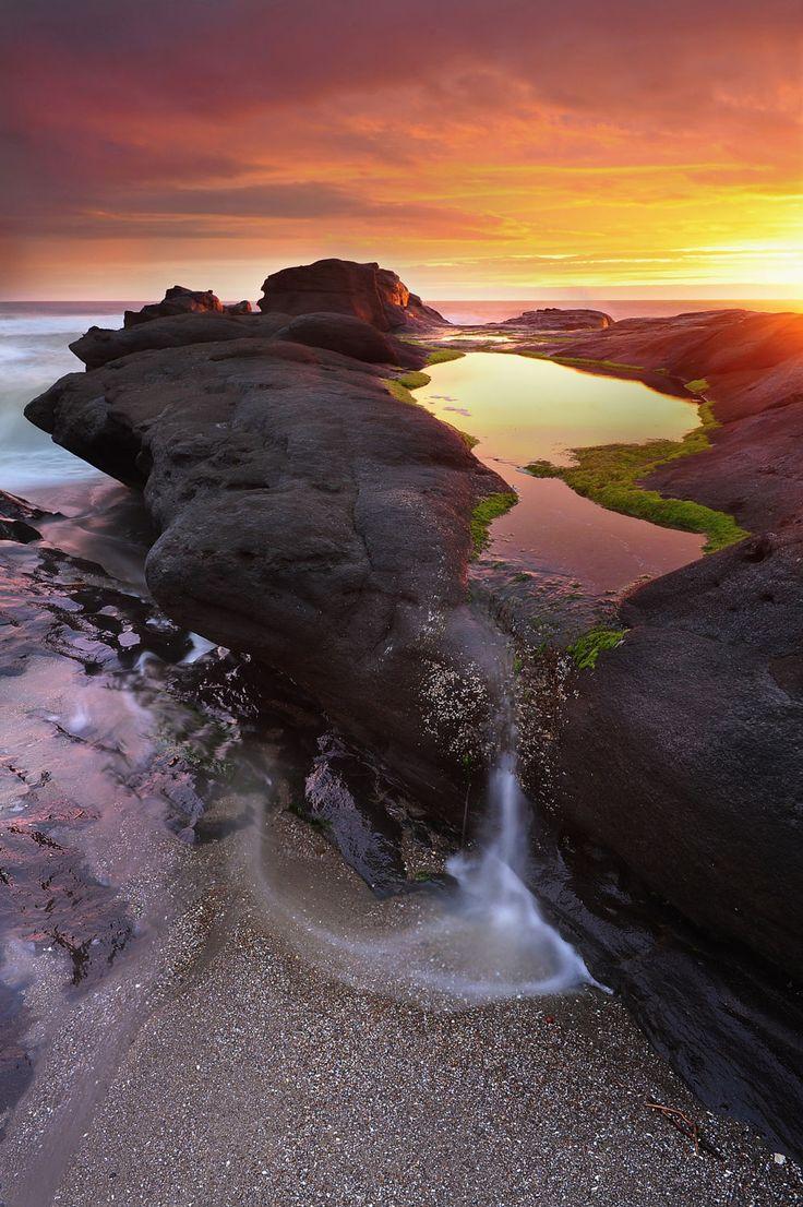 A fireside scenery by victor Liu OregonCoast