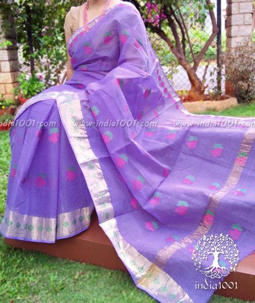 Kota Cotton Saree with Woven bootis