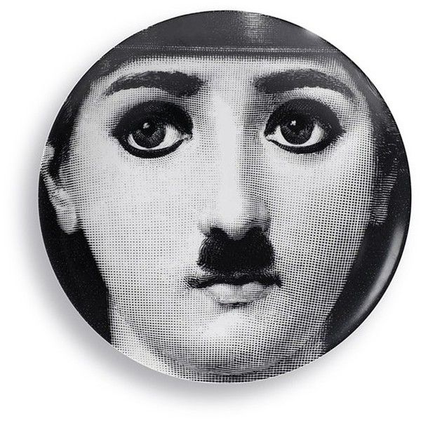 Fornasetti Moustache face print wall plate ($285) ❤ liked on Polyvore featuring home  sc 1 st  Pinterest & 494 best that face images on Pinterest | Piero fornasetti Dishes ...