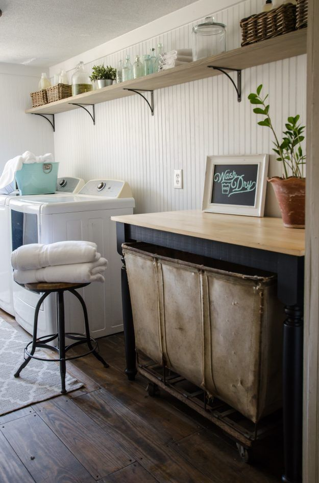 Farmhouse Of The Month The Shabby Creek Cottage The Cottage Market Farmhouse Laundry Room Laundry Room Folding Table Room Makeover