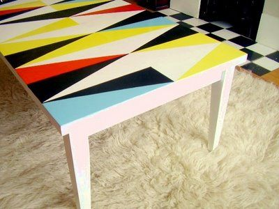 diy geometric table this is great