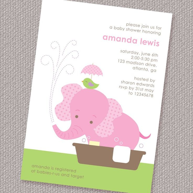 Elephant Themed Baby Shower Invitations – diabetesmang.info