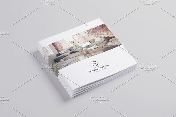 Minimal Interior Design Brochure by ShapShapy on @creativemarket