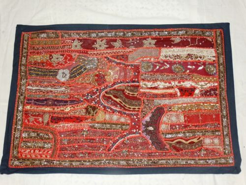 Vintage-Indian-wall-hanging-tapestries-cotton-Patchwork-Handmade-Tapestry-024