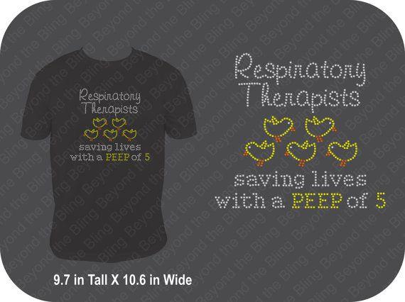 Respiratory therapist bling shirt respiratory by BeyondtheBlingUSA