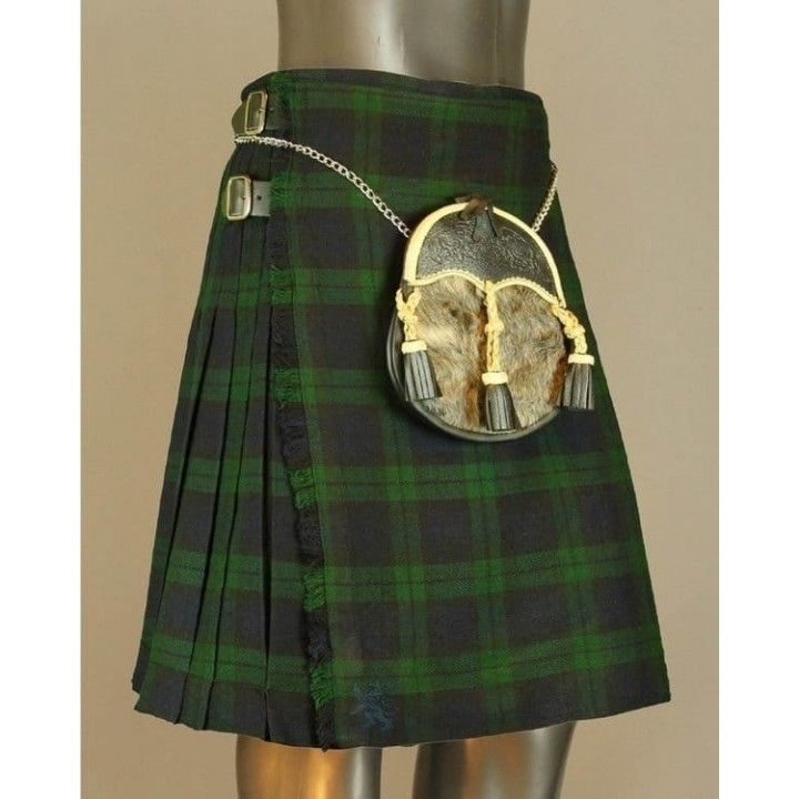 Black watch tartan kilt give you traditional look. it is easy to wear and clean. it is made genuine quality of acrylic wool.